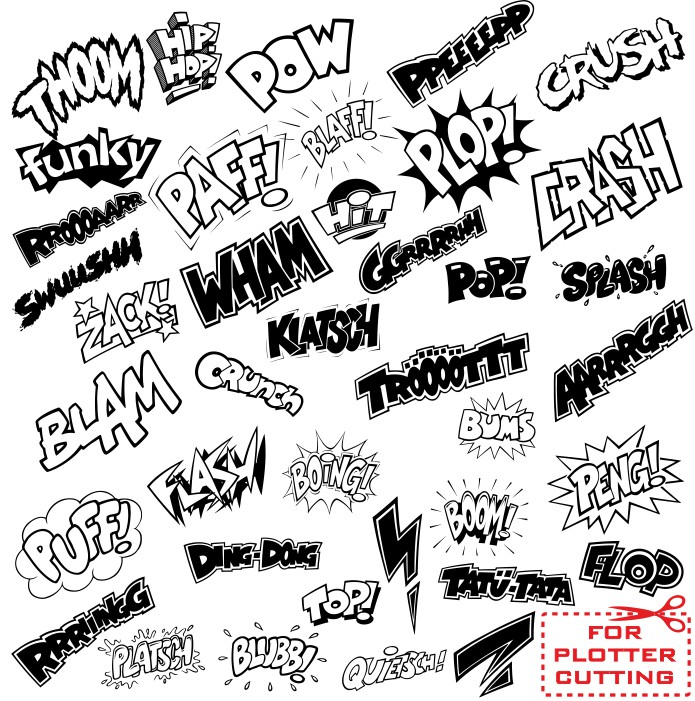 Vector lettering from comics free download