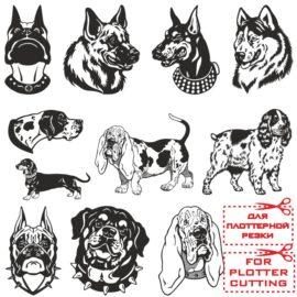 Морды собак для плоттерной резки