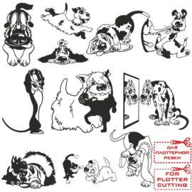 Различные векторные собачки