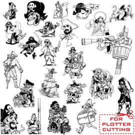 An excellent pirate vector for the plotter