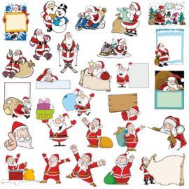 Vector images of Santa Claus
