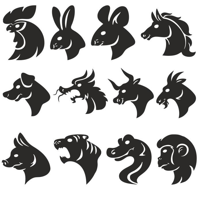 восточный календарь картинки животных
