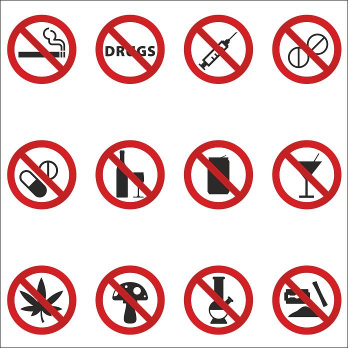 знаки запрещающие наркотики