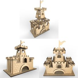 Tea house – Castle: Vector model for laser cutting