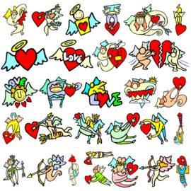 Прикольные векторные изображения ко дню святого Валентина