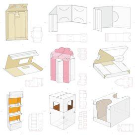 Векторные макеты коробочек сборник №13