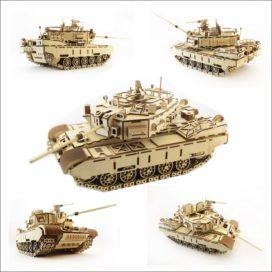 Макет сборной модели танка «Кайман» от LEMMO с инструкцией по сборке