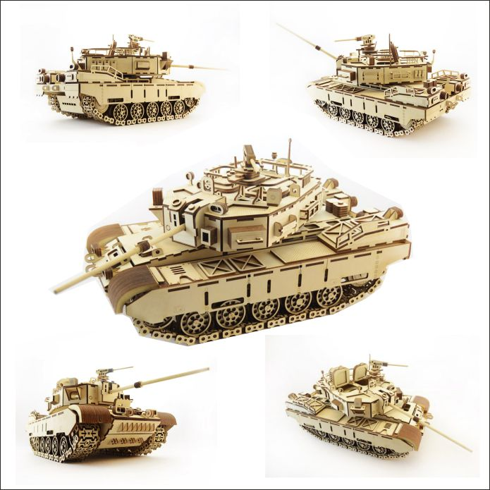 Макет танка: схема танка Кайман от LEMMO