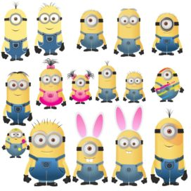 Minions vector images free