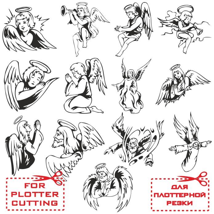 Ангелы в векторе скачать бесплатно