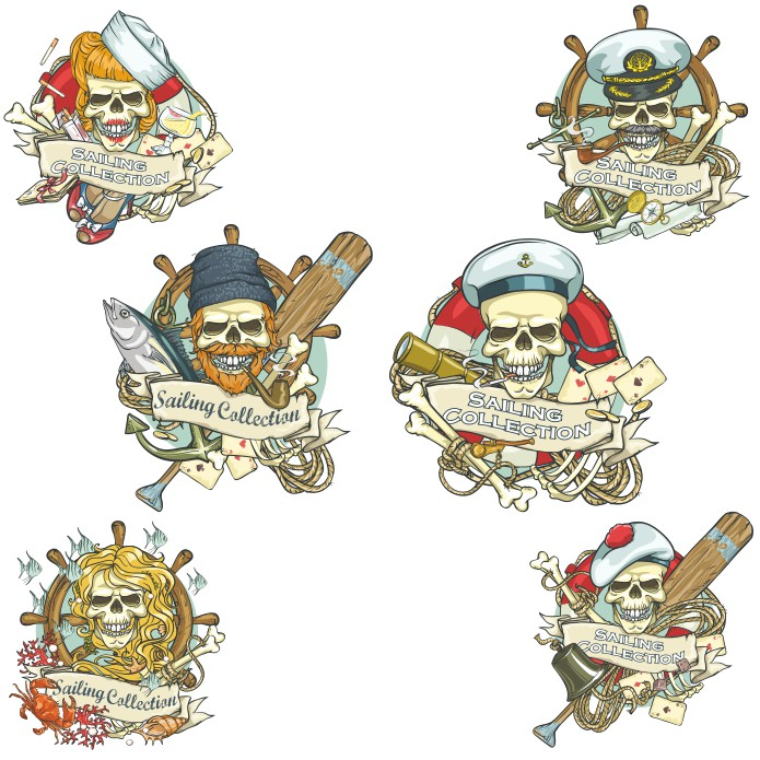 Pirate Skull, vector images, prints on t-shirts download free