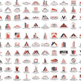 Заготовки строительных логотипов большой сборник