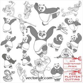 Кунг фу панда картинки в векторе для плоттера скачать
