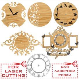 Чертежи деревянных часов и циферблатов: Сборник № 1