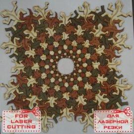 Макет мозаики из фанеры в виде ящериц
