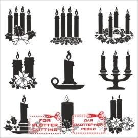 Новогодние силуэты свечей